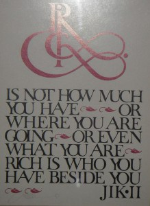 Rich is not how much you have