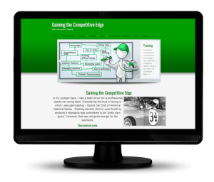 Computer with Website Designed by Aleweb Social Marketing