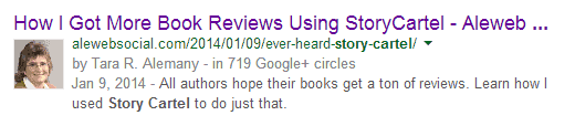 Personalized Results for Story Cartel Search