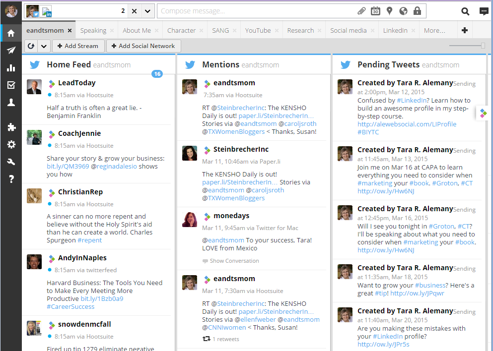 hootsuite screenshote
