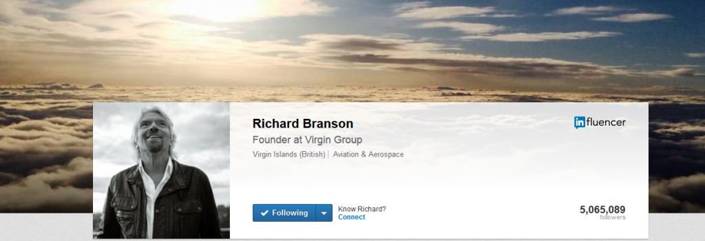 Richard Branson - Founder of Virgin