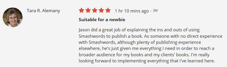 Udemy Smashwords course review